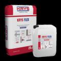 Двухкомпонентная эластичная полимерцементная гидроизоляция для гидроизоляции и герметизации швов и стыков KRYS Flex