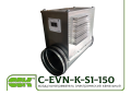 Duct air heater C-EVN-K-S1-150-3,0 electric for round channels