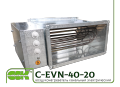 C-EVN-40-20-12 channel electric heater