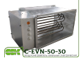 Воздухонагреватель канальный C-EVN-50-30-12
