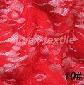 Гипюровая стрейчевая ткань, Код: 10 Красный