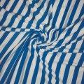 Ткань вискоза, вискозная ткань, вискоза, Код: Р-3433 белый+темн.голубой