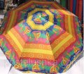 Umbrella for a garden, the beach of round multi-colored 2,3 m with a silver dusting 726