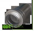 Silencer tubular C-GKK-125-600 for ventilation