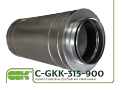 Silencer C-GKK-315-900 for round channels