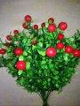 Ветка искусственная с ягодами и зеленью