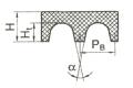 Ремень поликлиновый приводной сечением PJ, PK, PL, PM  ТУ38 015 763-89