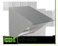 Козырек KP-KZR-80-80 для защиты вентилятора от осадков