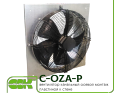 C-OZA-P-035-220 вентилятор канальный осевой монтаж пластиной к стене