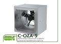 C-OZA-S-045-4-220 channel axial fan in a soundproof enclosure