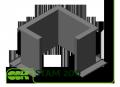 Стакан монтажный утепленный STAM 200