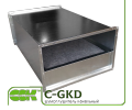 C-GKD-60-35 шумоглушник для канальної вентиляції