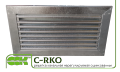 Нерегулируемая решетка для прямоугольных каналов C-RKO-60-30