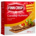 FINN CRISP rye crispbread with caraway seeds. Net weight: 200 g; Proteins: 10; Zhiri: 2,6; Carbohydrates: 59; Energet. value: 339 kcal