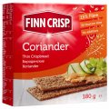 FINN CRISP Rusks Borodino with coriander. Net weight: 180 g, Protein: 10 Fat: 2,7 Carbohydrates: 62