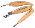 Комплект стамесок STRYI для резьбы  маленьких деревянных ложек + Подарок заготовка ложки