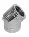 Колено 45° дымохода нержавеющая сталь