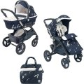 Baby carriage of Cam DINAMICO UP AMORE MIO DUETTO 2 in 1 color blue