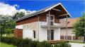 Нестандартное решение для каркасного дома (Проект Z25)