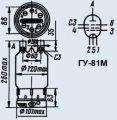 Лампа генераторная ГУ-81М