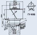 Лампа генераторная ГУ-93Б