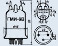 Лампа модуляторная ГМИ-6В