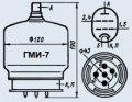 Лампа модуляторная ГМИ-7