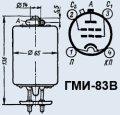 Лампа модуляторная ГМИ-83В