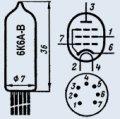 Лампа пальчиковая 6К6А-В