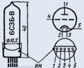 Лампа пальчиковая 6С3Б-В
