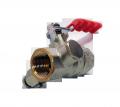 Кран шаровой манометрический М20х1,5 / G1/2 со спускным устройством для СУГ, пропана бутана, кран сжиженного газа