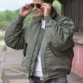 Jacket flight USA nylon olive 10404501