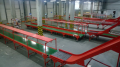 The automated sorting lines for a warehouse