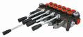 Распределитель гидравлический  6L 80L  с одним джойстиком и 4 секциями