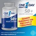Мультивитаминный комплекс для мужчин старше 50-ти лет Bayer One A Day Men's 50+ 200 таблеток