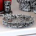 "Салатная тарелка-плоская 8"" 20,32см , мрамор серый Salad Plate, Flat Crow Canyon Home"