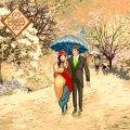 Салфетка ТМ Luxy 33х33, Рождественское свидание