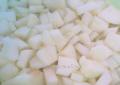 Las manzanas congelad
