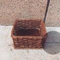Плетеная корзина (короб)  в темном цвете 20*20 в10 см