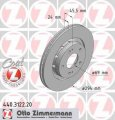 Тормозной диск передний Citroen C-CROSSER 2.0 бензин 2010 -  (440312220)