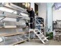 Лестница с платформой SVELT IKARO 7 ступеней (ширина 100 см)
