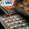 Grid conveyor double weaving for baking of cookies