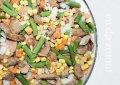 Овощная смесь замороженная Лобио шампиньоны, фасоль стручковая, морковь, лук, кукуруза