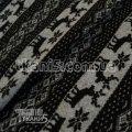 Ткань Трикотаж ангора олени (черно-серый) 7094
