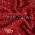 Ткань Трикотаж люрекс-травка (темно-красный) 6788