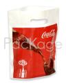 Пакет с логотипом с вырубной усиленной ручкой «банан» и донной складкой