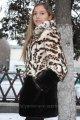 Мод 28. Шубка для девочки из меха кролика и овчины, капюшон съемный. Доставка по Украине.
