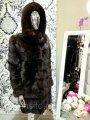 Шуба Норковая Шоколадного Цвета  90 см, 100 см Поперечка 0300ЕИШ