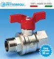 Шаровый кран для воды ВН 1/2'' мотылек Pettinaroli Италия