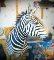 Зебра чучело